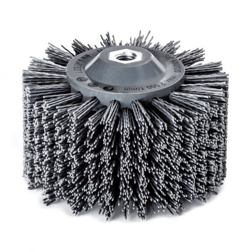 <!-- 010 -->Abrasive Nylon Wheel Brush 140mm x 90mm - M14