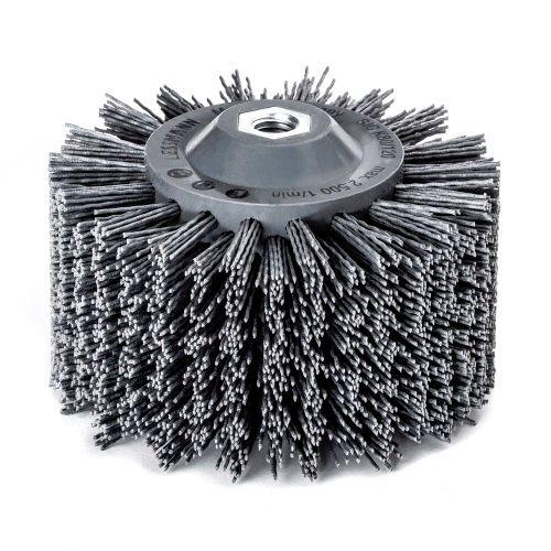 <!-- 010 -->Abrasive Nylon Wheel Brush 140mm x 90mm - M14