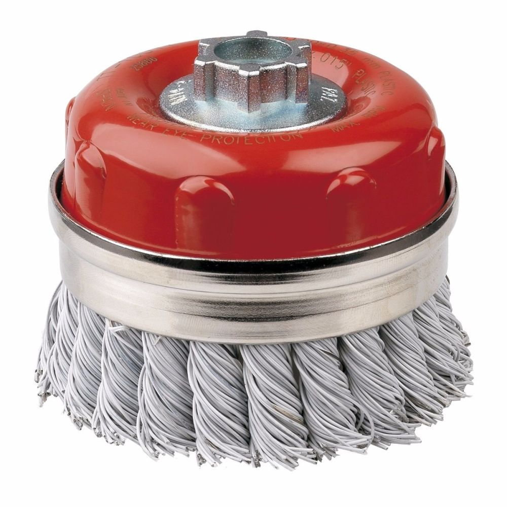 <!-- 008 -->Laminated Steel Twist Knot Cup Brush 100mm