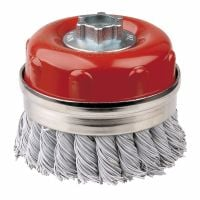 Laminated Steel Twist Knot Cup Brush 100mm