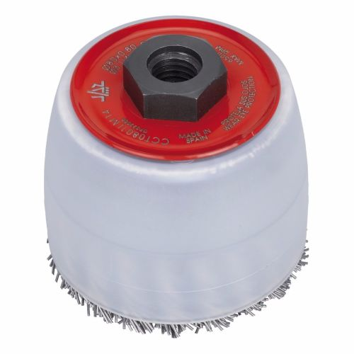 <!-- 006 -->Twist Knot Wire Control Brush 80mm x M14