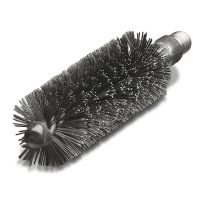 Steel Wire Tube Brush 28mm x W1/2 - Double Spiral