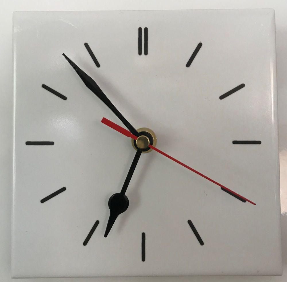 Tile Clock - White