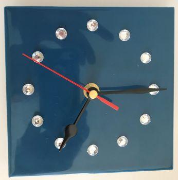 Tile Clock - Blue