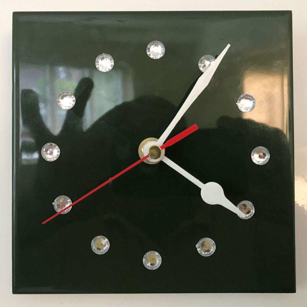 Tile Clock - Green