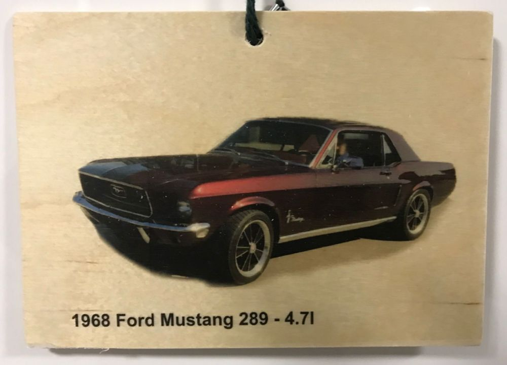 Ford Mustang 289-4.7litre - Wooden Plaque 148 x 105mm