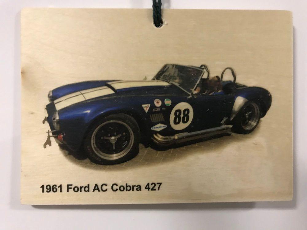Ford AC Cobra 427 1961 - Wooden Plaque 148 x 105mm