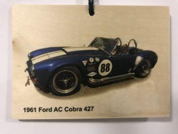 AC Cobra 427 1961 - Wooden Plaque 148 x 105mm