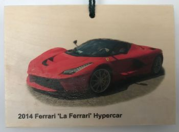 Ferrari 'La Ferrari' Hypercar 2014 - Wooden Plaque 148 x 105mm