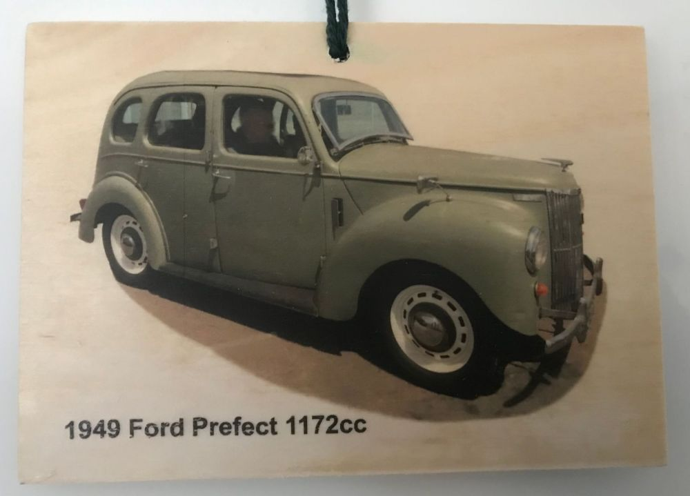Ford Prefect 1172 1949 - Wooden Plaque 148 x 105mm