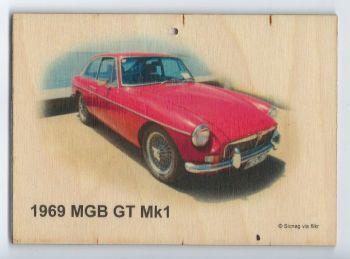 MGB GT Mk1 1969 - Wooden Plaque 105 x 148mm