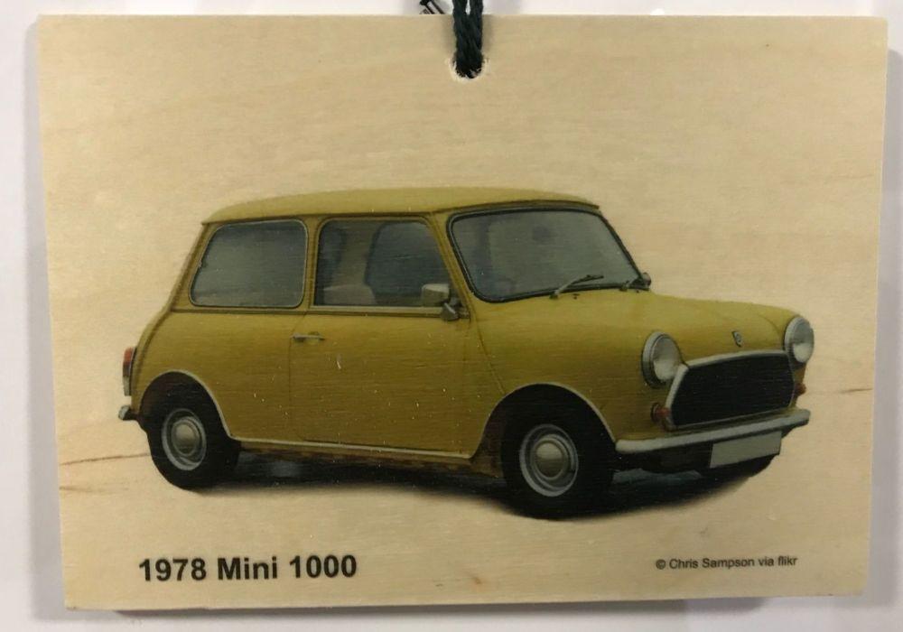 Mini Mk 4 1000 1978 - Wooden Plaque 105 x 148mm