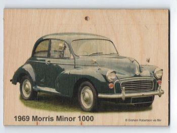 Morris Minor 1000 1969 - Wooden Plaque 105 x 148mm