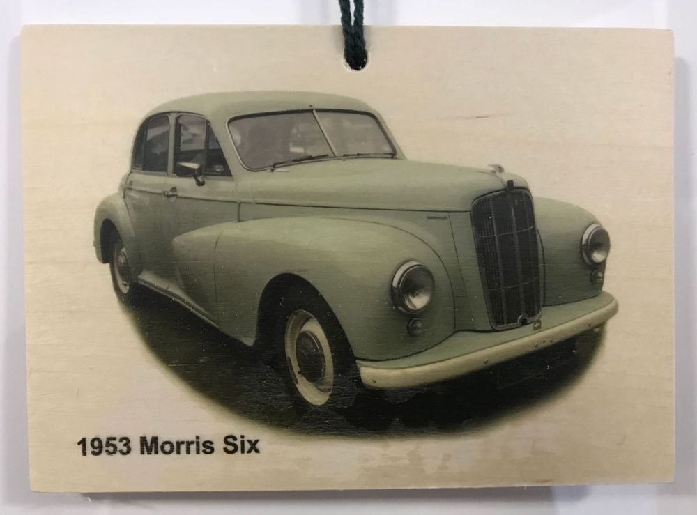 Morris Six 1953 - Wooden Plaque 105 x 148mm