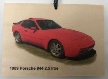 Porsche 944 2.5litre 1989 - Wooden Plaque 105 x 148mm