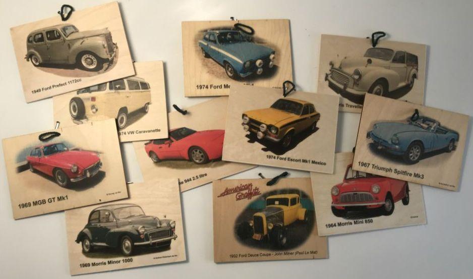 Classic Car Wooden Plaques