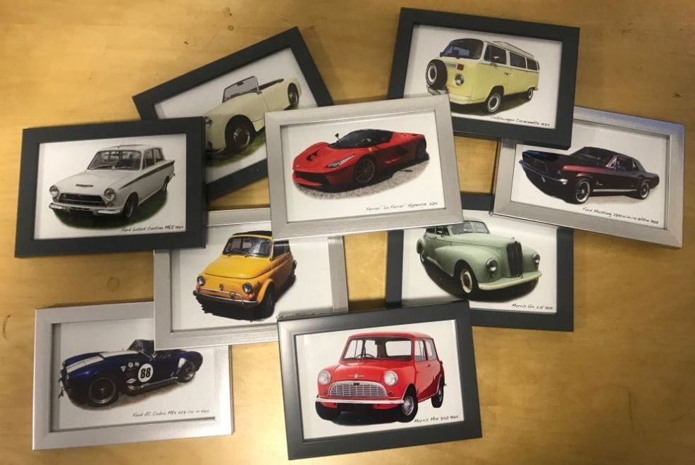 Classic Car Framed Pictures