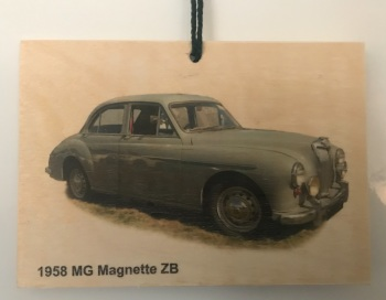 MG Magnette ZB 1958 - Photograph on Wood A6 (105x148mm)