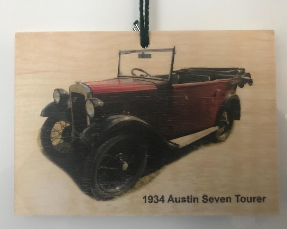 Austin Seven Tourer 1934 - Picture on Wood