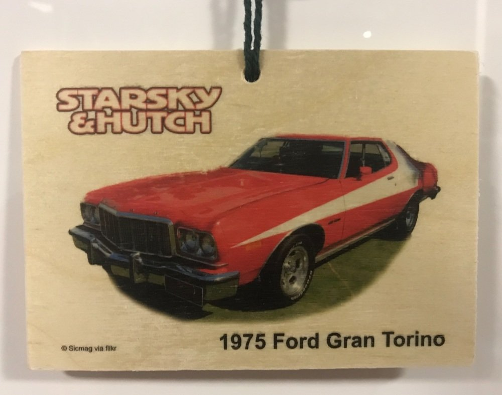 Ford Gran Torino 1975 from Starsky & Hutch - Wooden plaque 148 x 105mm