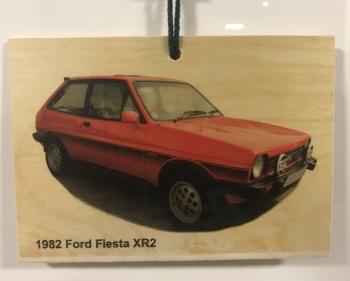 Ford Fiesta XR2 1982 - Wooden Plaque 148 x 105mm