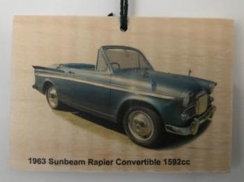 Sunbeam Rapier Convertible 1963 - Picture on Wood