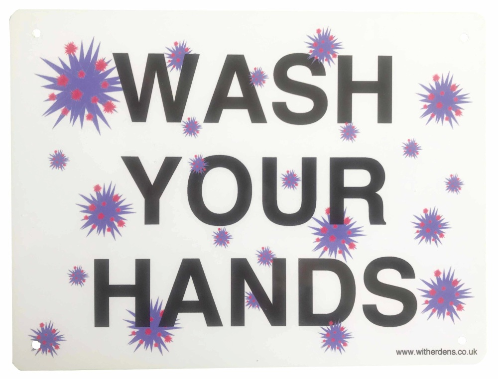 'Wash Your Hands'  - Metal sign
