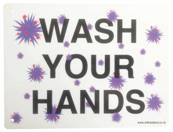 'Wash Your Hands'  - Metal sign - Free UK Delivery