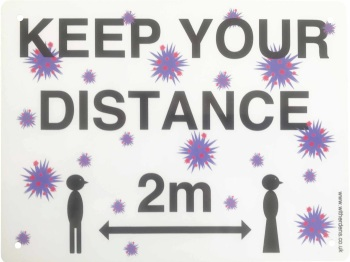'Keep Your Distance.'  - Metal Sign - Free UK Delivery