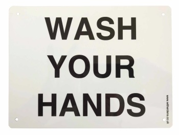 'Wash Your Hands'  - Plain Metal sign - Free UK Delivery