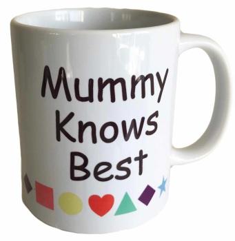 Mummy Knows Best - Printed Ceramic Mug 11oz - Free UK Delivery