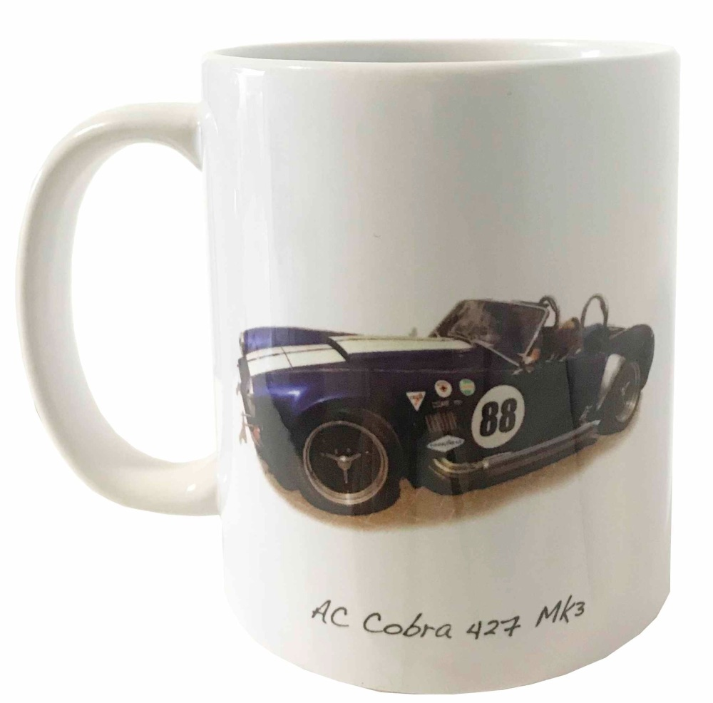 AC Cobra Mk3 1965 Ceramic Mug - Ideal Gift for the American Car Enthusiast