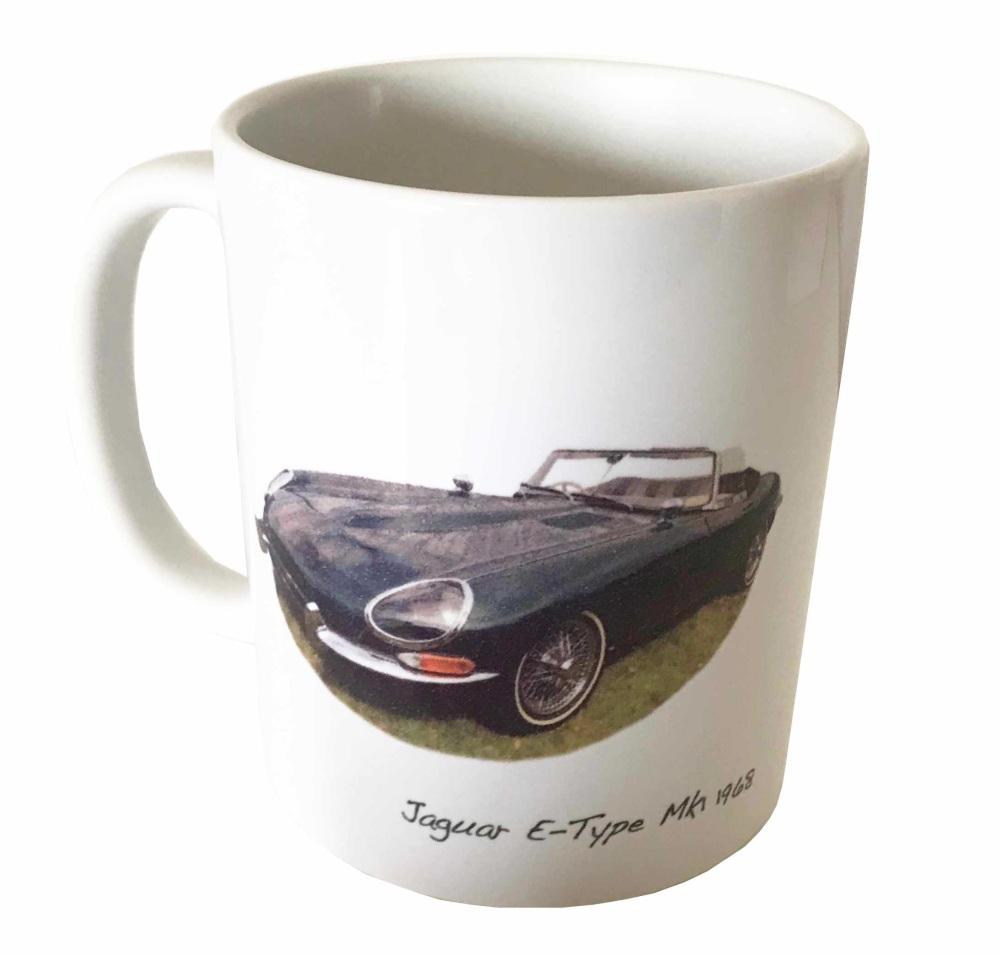 Jaguar E-Type Mk1 1968 Ceramic Mug - Ideal Gift for the Sports Car Enthusia