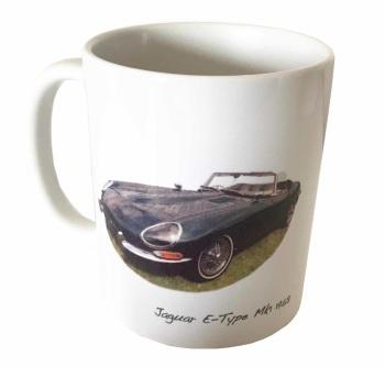 Jaguar E-Type Mk1 1968 Ceramic Mug - Ideal Gift for the Sports Car Enthusiast - Free UK Delivery