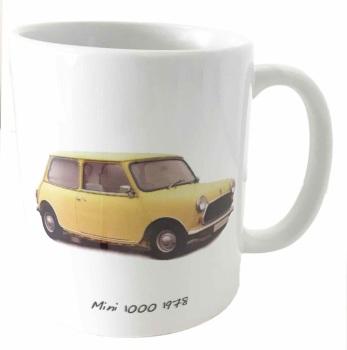 Mini 1000 1978 - Ceramic Mug - Memories of your First Car - Free UK Delivery