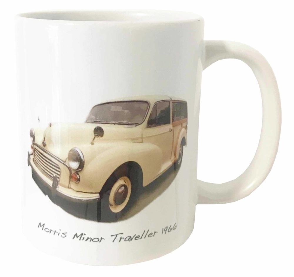 Morris Minor Traveller 1966 (Cream) Ceramic Mug - First Car Memories