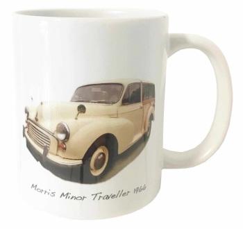 Morris Minor Traveller 1966 (Cream) Ceramic Mug - First Car Memories - Free UK Delivery
