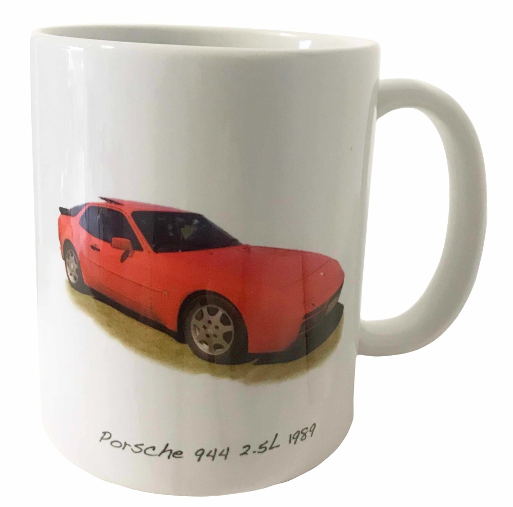 Porsche 944 1989 Ceramic Mug - Ideal Gift for the German Sportscar Enthusia