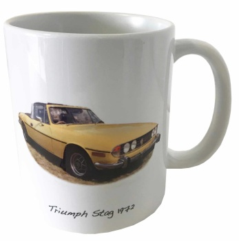 Triumph Stag 1972 Ceramic Mug - Ideal Gift for the Car Enthusiast - Free UK Delivery