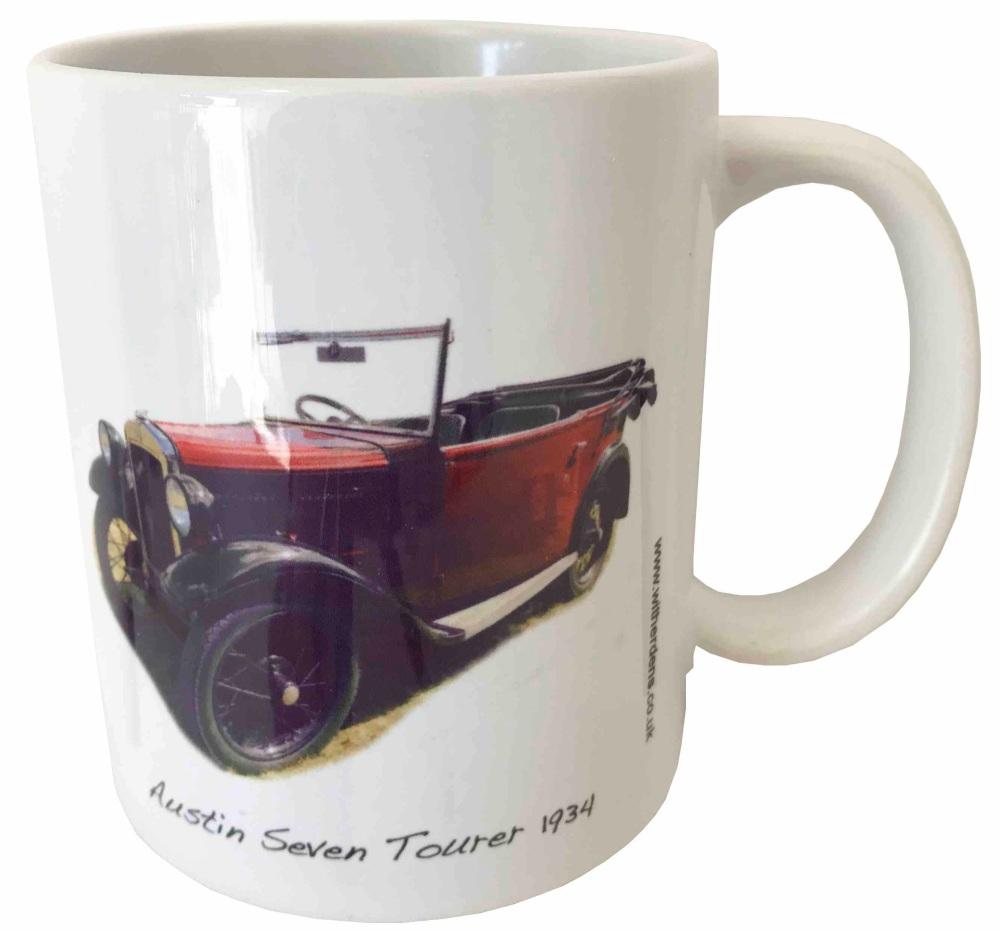 Austin Seven Tourer 1934 - Ceramic Mug - Vintage Car Memories