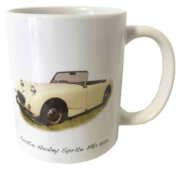 Austin Healey Sprite Mk1 1959 Ceramic Mug - Ideal Gift for the Sports Car Enthusiast - Free UK Delivery
