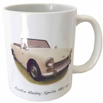Austin Healey Sprite Mk2 1963 Ceramic Mug - Ideal Gift for the Sports Car Enthusiast - Free UK Delivery