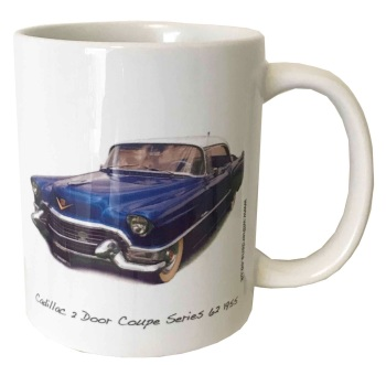 Cadillac 2 Door Coupe 1955 Ceramic Mug - Ideal Gift for the American Car Enthusiast - Free UK Delivery