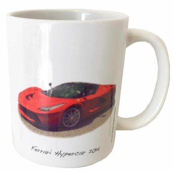 Ferrari Hypercar 'La Ferrari' 2014 Ceramic Mug - Ideal Gift for the Italian Sports Car Enthusiast - Free UK Delivery