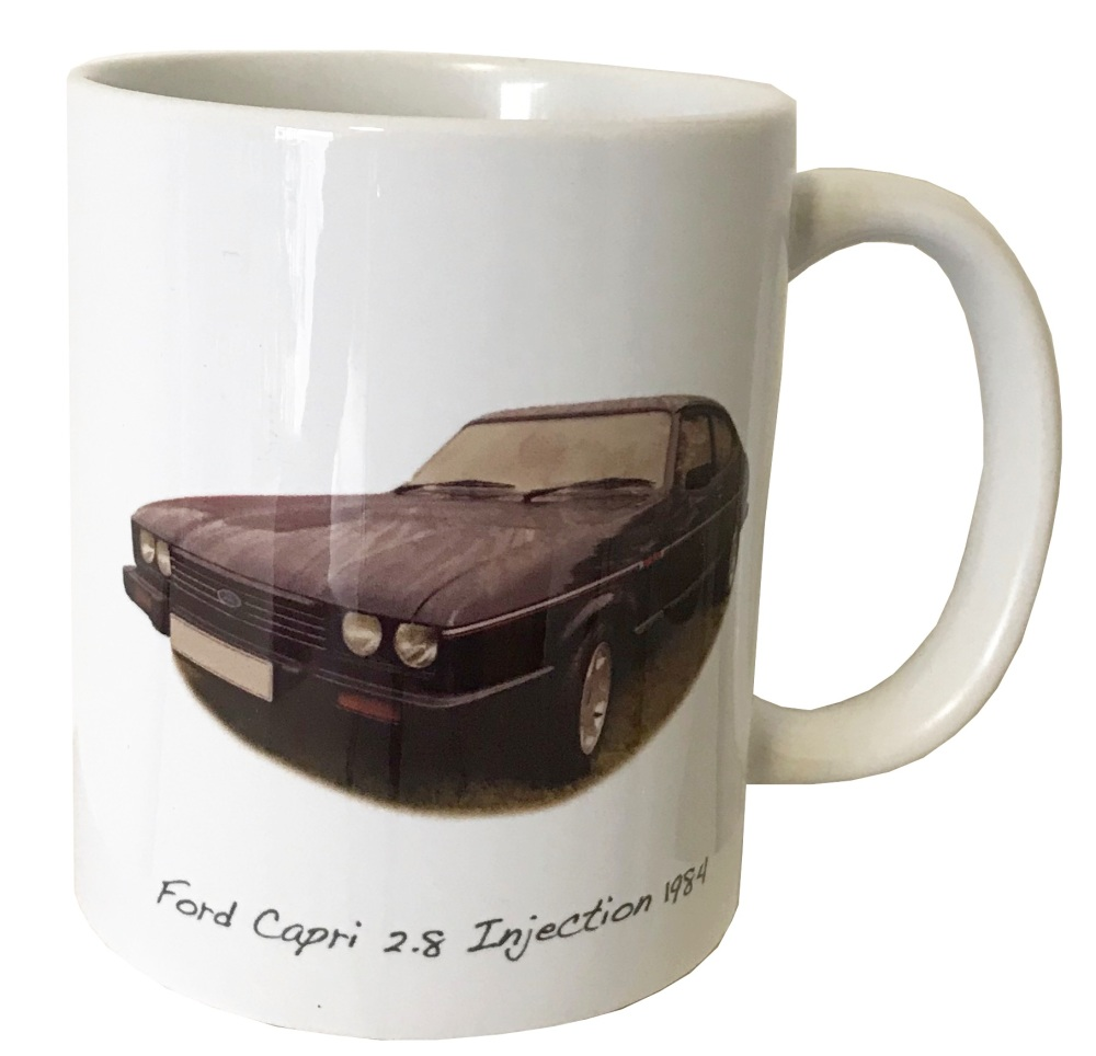 Ford Capri 2.8i 1984 Ceramic Mug - Ideal Gift for the Car Enthusiast