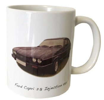 Ford Capri 2.8i 1984 Ceramic Mug - Ideal Gift for the Car Enthusiast - Free UK Delivery