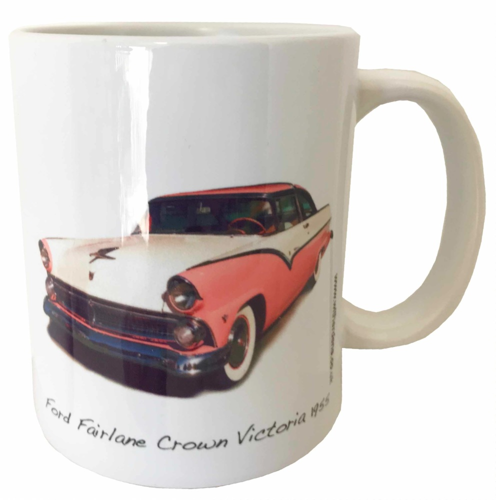 Ford Fairlane Crown Victoria 1955 Ceramic Mug - Ideal Gift for the American