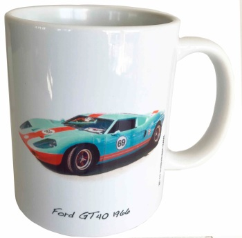 Ford GT40 1966 Ceramic Mug - Ideal Gift for the American Car Enthusiast - Free UK Delivery
