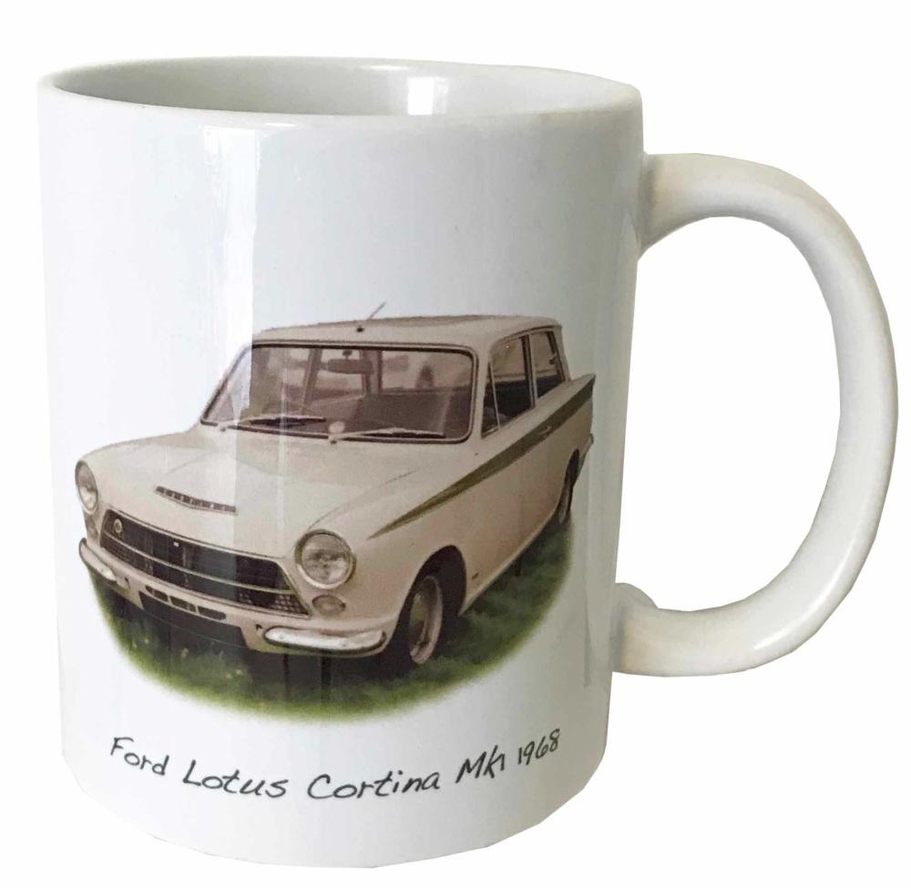 Ford Lotus Cortina Mk1 Ceramic Mug - Ideal Gift for the Car Enthusiast