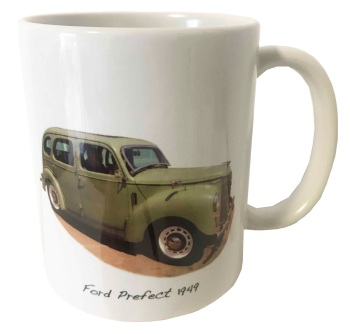 Ford Prefect Saloon 1949 - Ceramic Mug - Car Memories from the Last Century - Free UK Delivery